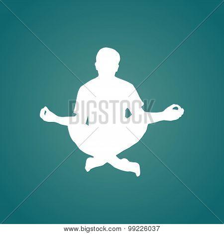 Meditation silhouette illustration