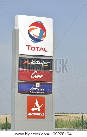 Total  gas station with restaurant