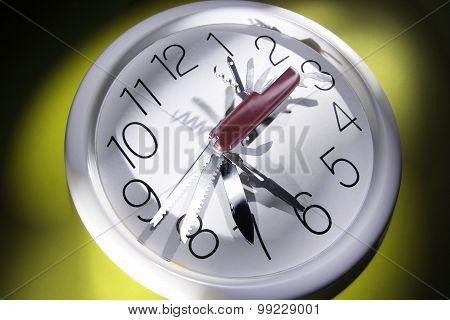Multi-purpose Tool On Wall Clock