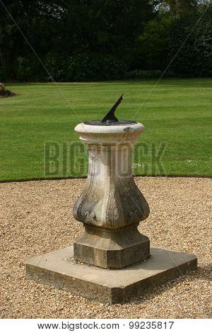 Sundial on plinth