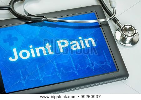 Tablet With The Diagnosis Joint Pain On The Display