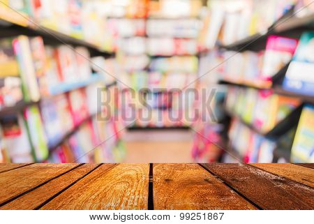 Blur Image Of   Book Store On Shelf