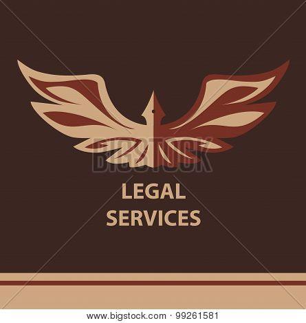 Template vector logo for legal, notary organization.