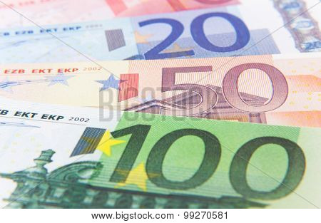 Various euro notes background texture