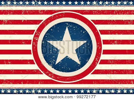 US star flag horizontal.An american horizontal background with a big star for your publicity