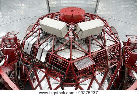 Giant spanish telescope GTC 10 meters mirror diameter in Roque de los muchachos observatory La Palma