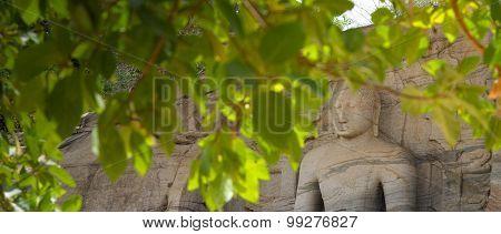 Meditating Buddha Statue At Gal Vihare
