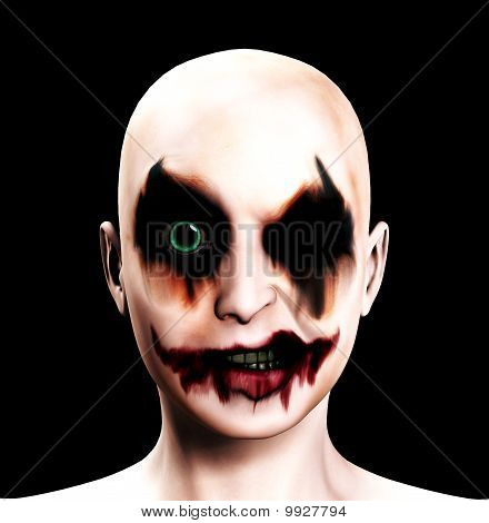 Evil Psychotic Female Clown