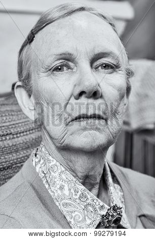 Serious Elderly Lady