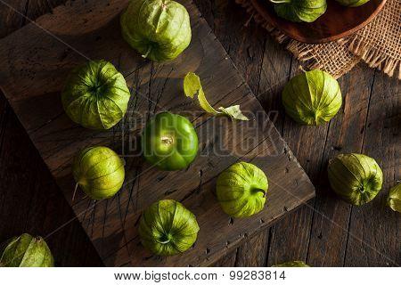 Healthy Organic Green Tomatillos