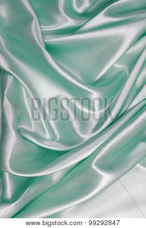 Light Green Silk Cloth Of Wavy Abstract Background