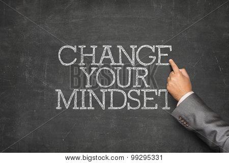 Change your mindset text on blackboard
