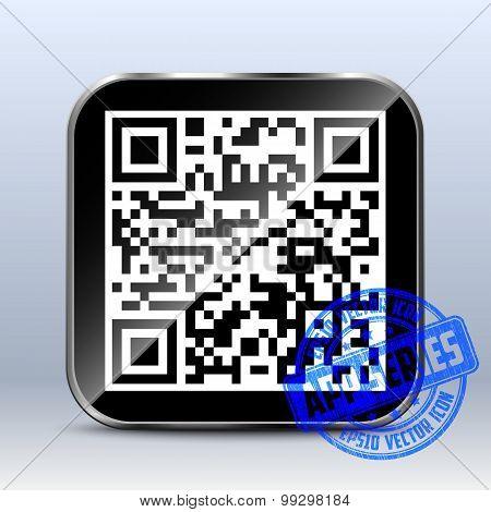 Qr Code Icon. App Series