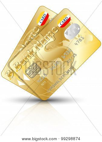 Icon Of A Two Gold Credit Cards