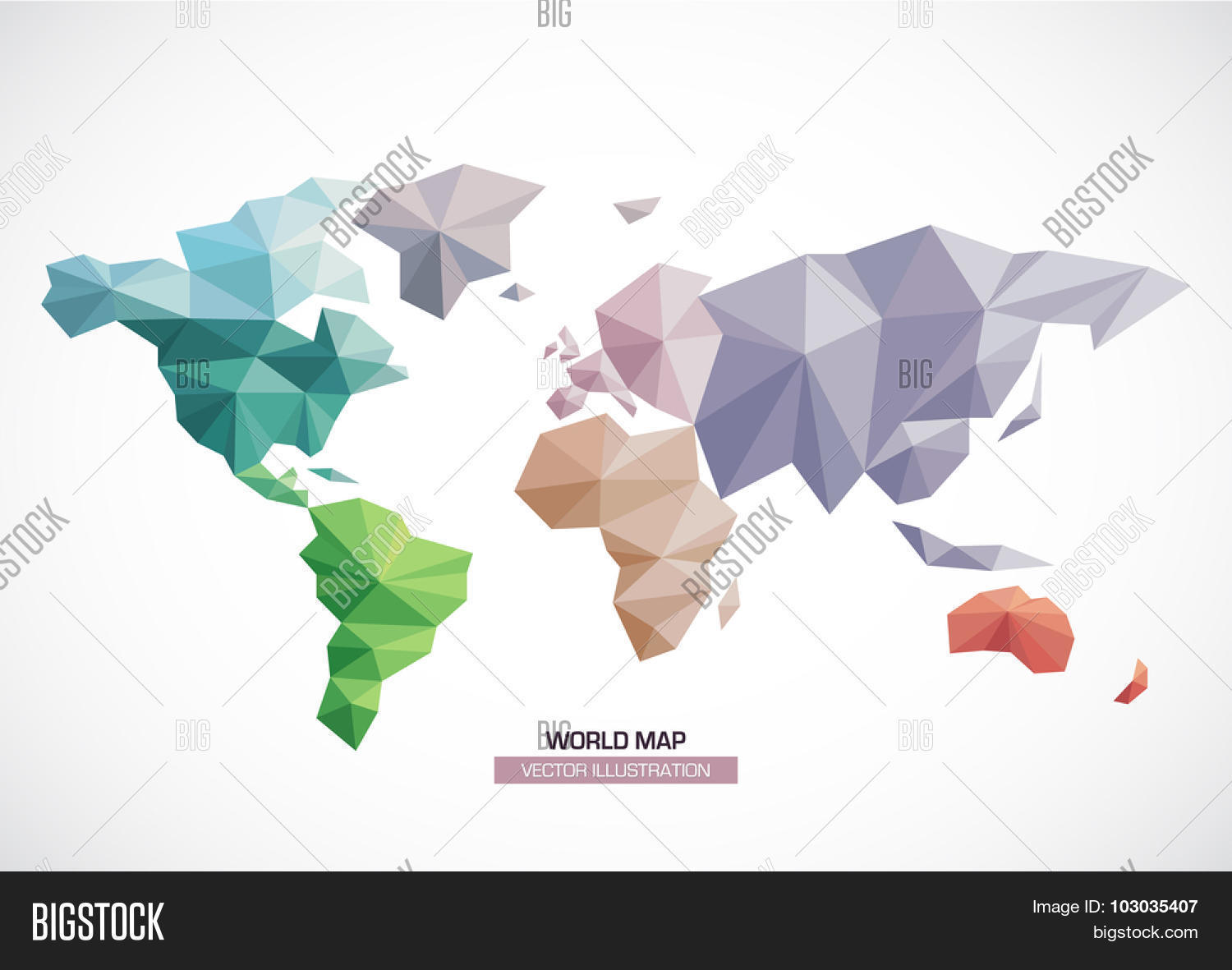 Vector world map vector photo free trial bigstock vector world map design geometric style triangle pattern continents with different colors gumiabroncs Image collections
