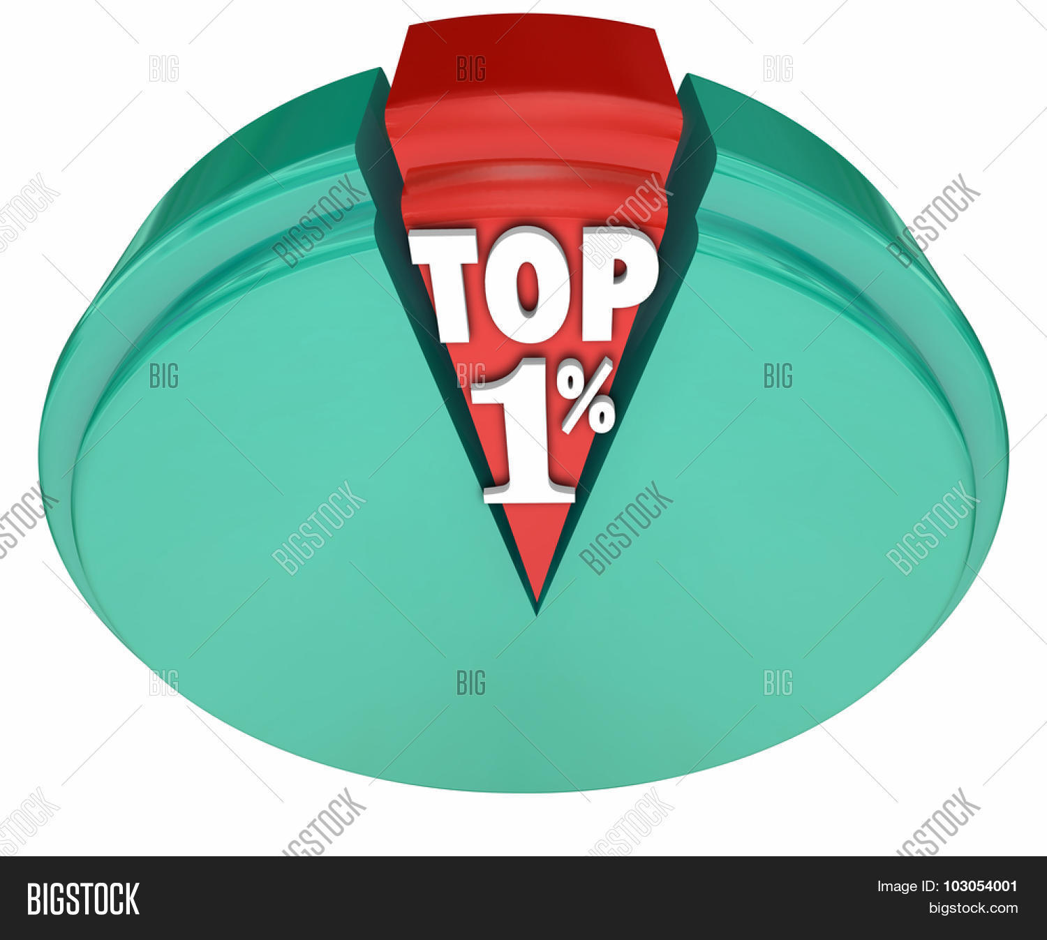 Top 1 percent words on pie chart image photo bigstock top 1 percent words on a pie chart to illustrate the upper class wealthy nvjuhfo Image collections