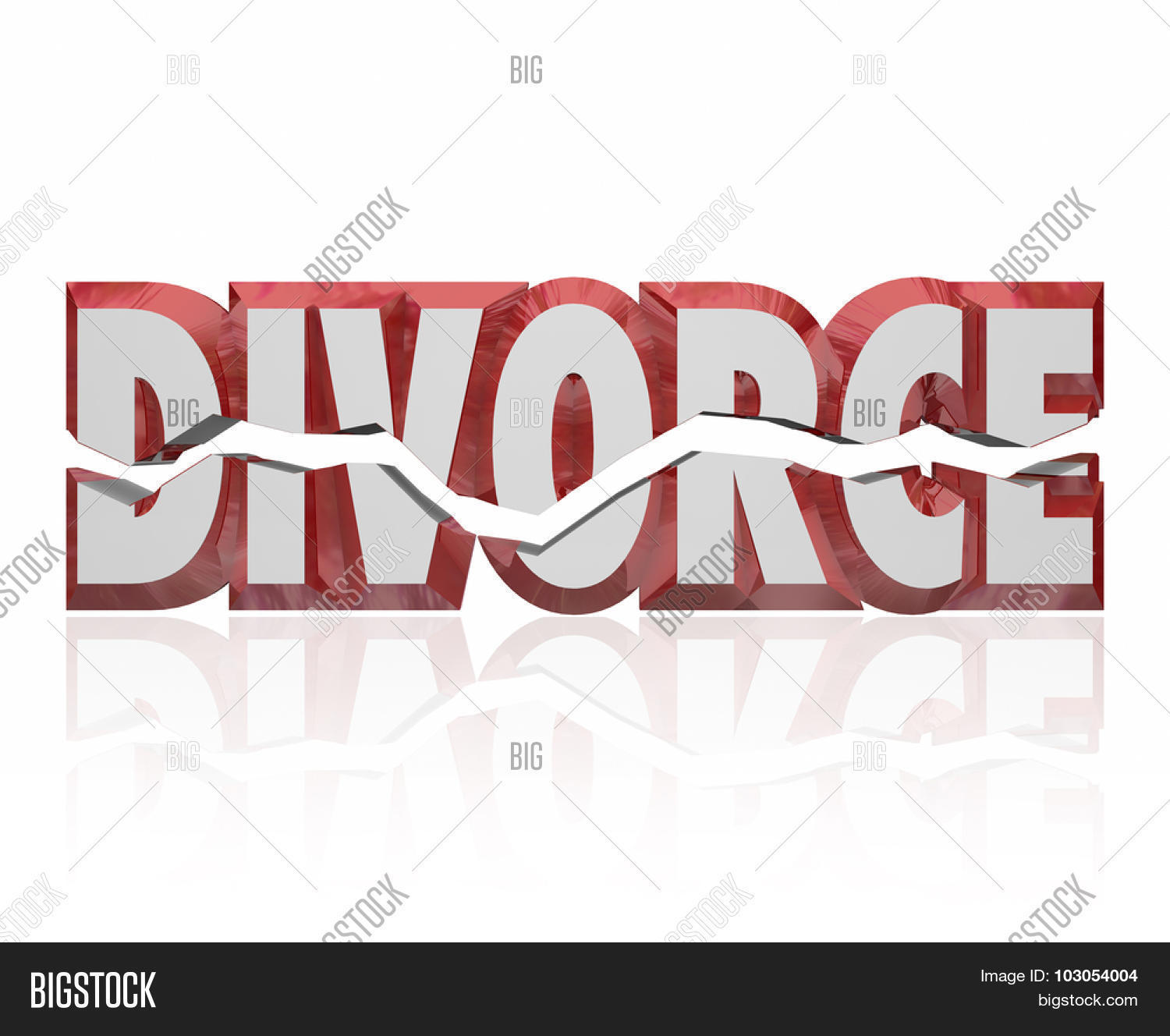 Divorce Word Red 3d Image & Photo (Free Trial)   Bigstock