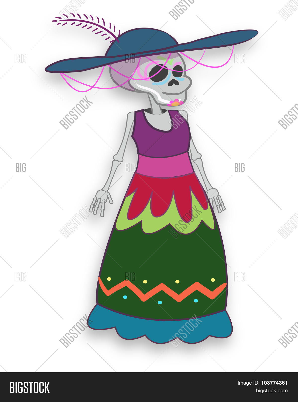 Catrina Cartoon Vector Photo Free Trial Bigstock