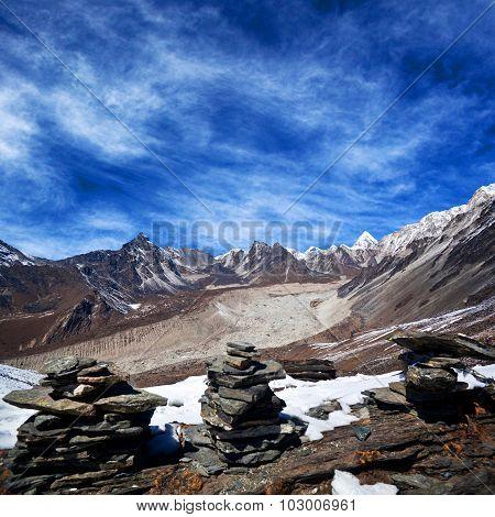 Mountain Landscape In Sagarmatha National Park
