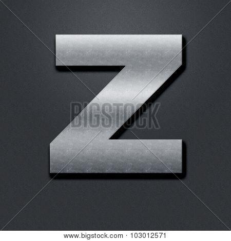 Letter Shabby Metal Chromium - Z
