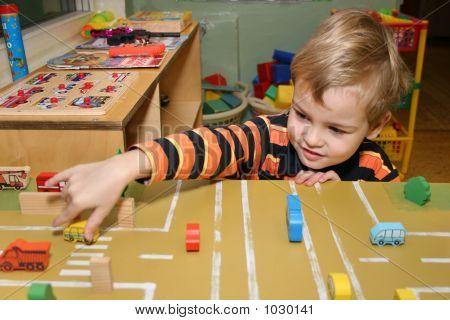 Child Play In Kindergarten