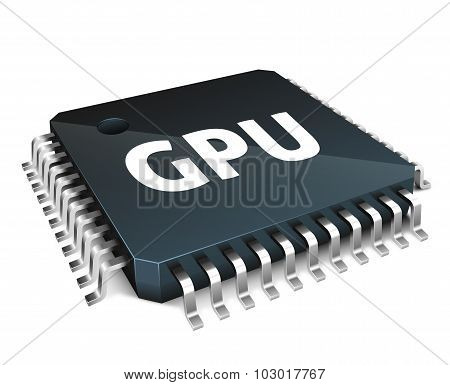 Graphics Processor Concept Isolated On White Background