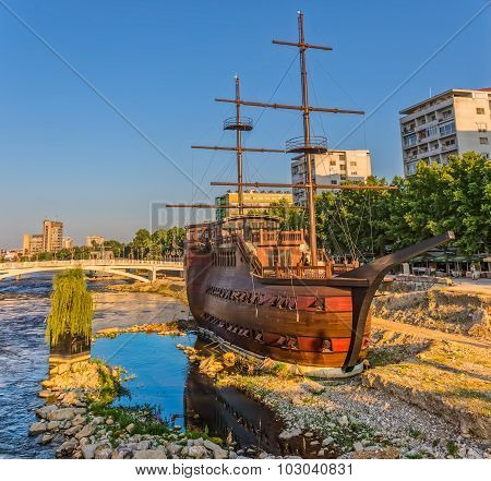 Skopje wooden sailboat