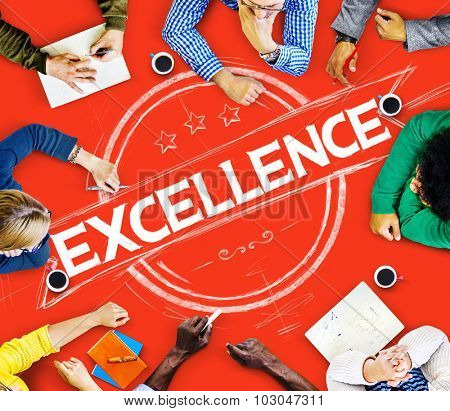 Excellence Ability Intelligence Perfection Proficiency Concept poster
