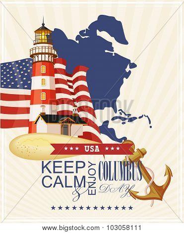 Columbus day poster.