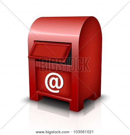 Vector Mailbox Icon With Reflection