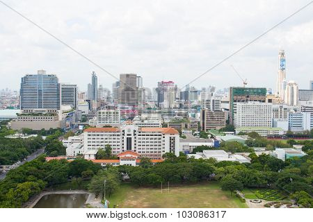 Cityscape of Bangkok on the roof top