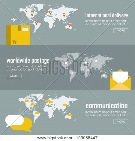 Web Vector Illustration Infographic Template Set.