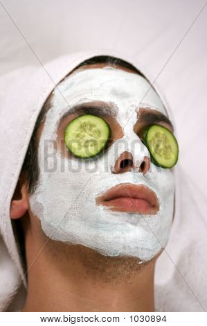Cleansing Mask On Man