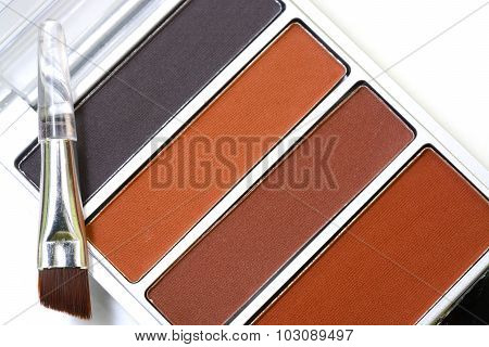 Makeup Eyebrow Powder Colors Isolate On White Background