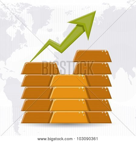 Global Economy concept with money icons  design, vector illustration eps 10 poster
