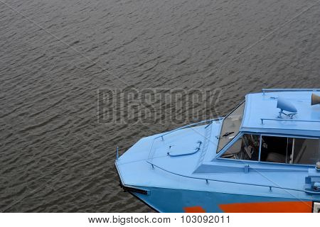 Cabin Vessel On A Background Of Water