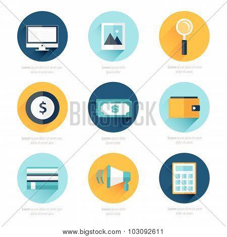 Set Of Flat Design Icons