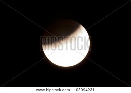 Total Lunar Eclipse On Sept. 28, 2015, Observed In Kiel, Germany, Through A Telescope