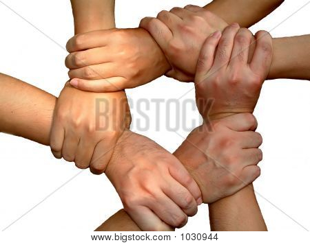 Link Hands(Business Team Work)