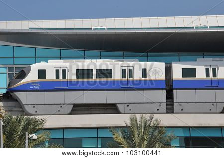 Palm Jumeirah Monorail in Dubai, UAE