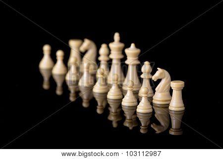 White Chessman Army