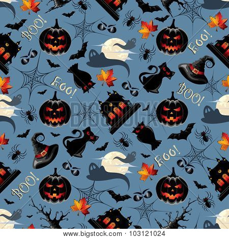 Halloween Background Seamless Pattern