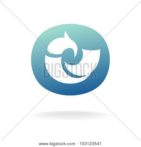 Vector Bird Logo Template. Sitting Or Floating.