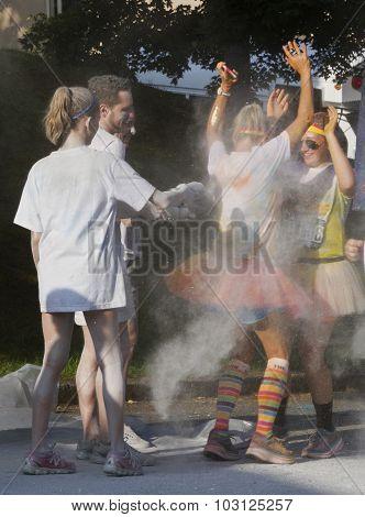 Asheville Color Run Glitter Spray