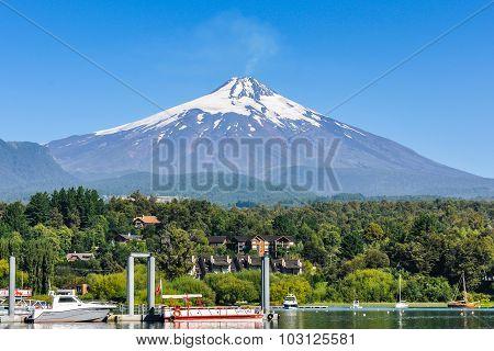 View Of Villarrica Volcano, Pucon, Chile