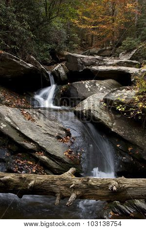 Wispy Stream Through the Rocks