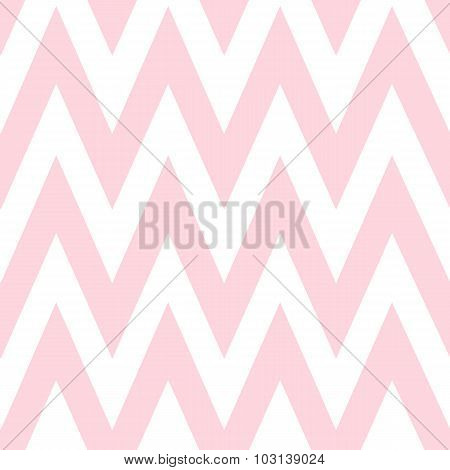 Pattern in zigzag. Classic chevron seamless pink pattern.