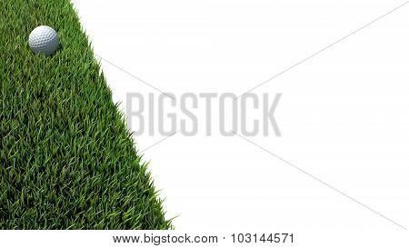 Golf Ball On Green 01