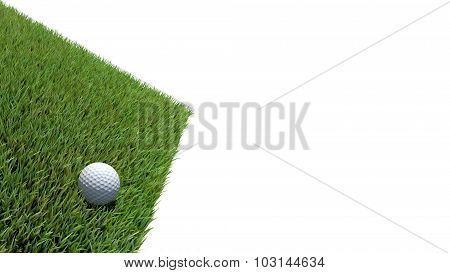 Golf Ball On Green 03