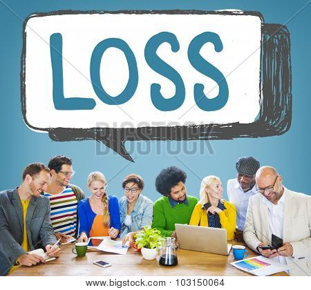 Loss Deduct Recession Debt Finance Bankruptcy Concept poster